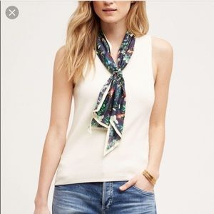 NWT Anthropologie | Moth Cream Scarf Tank